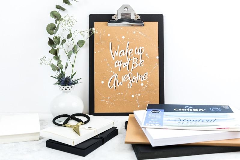 Lettering Basic Guide mit Tipps & Tricks für Anfänger und Fortgeschrittene | Lettering Papier und andere Material Empfehlungen