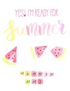 Lettering Basic Guide mit Tipps & Tricks für Anfänger und Fortgeschrittene | Beispiel Watercolor Summer Lettering mit edding Color Happy Box