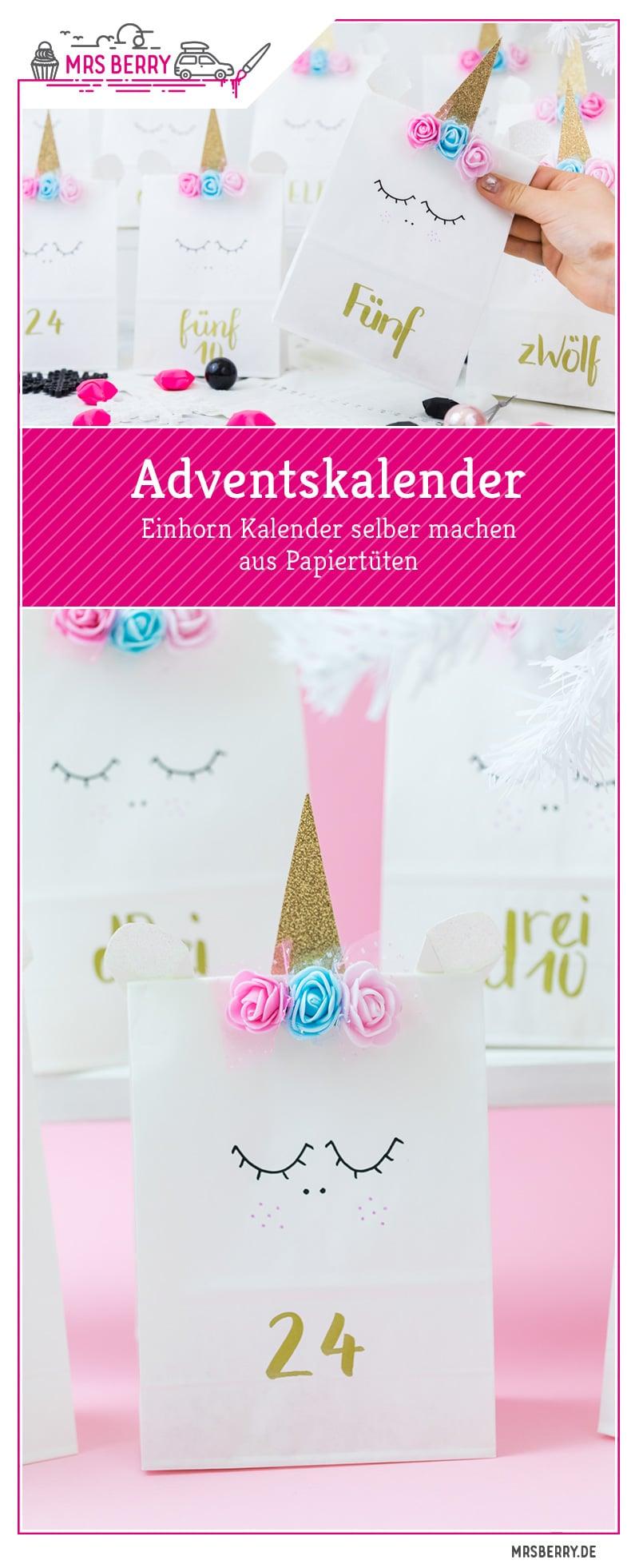 Einhorn Adventskalender basteln mit Papiertüten. Ich zeige euch in einer genauen Anleitung, wie ihr das schnelle DIY zu Weihnachten umsetzen könnt. Sehen die Einhorn Papiertütchen nicht süß aus?