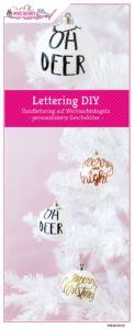Lettering auf Weihnachtskugeln   Personalisierte Christbaumkugeln sind eine kreative Geschenkidee zu Weihnachten und verschönern jeden Weihnachtsbaum.
