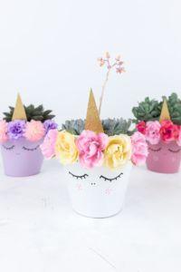 Einhorn Blumentopf selber machen DIY | Eine tolle Idee zum Basteln mit Kindern und als Dekoration im Kinderzimmer