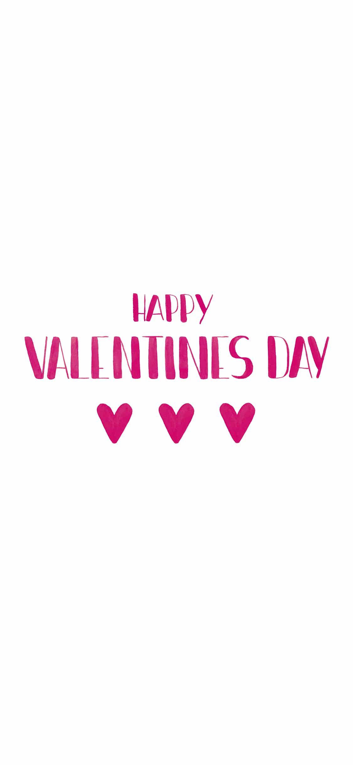 Lettering Happy Valentines Day Wallpaper von MrsBerry