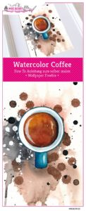 Watercolor Coffee Espresso by MrsBerry + How To Anleitung mit Step by Step zum Aquarell selber malen + Wallpaper Freebie zum Download