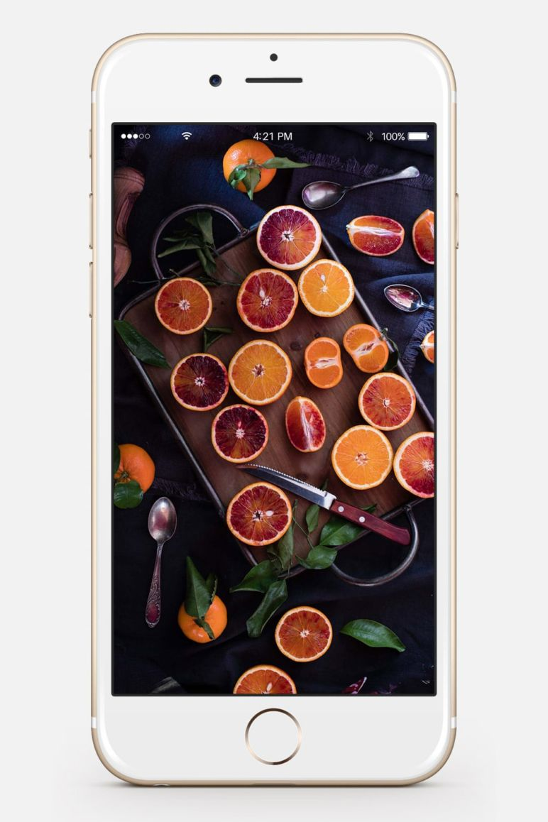 Wallpaper MrsBerry.de Orangen Dark Moody Fotografie