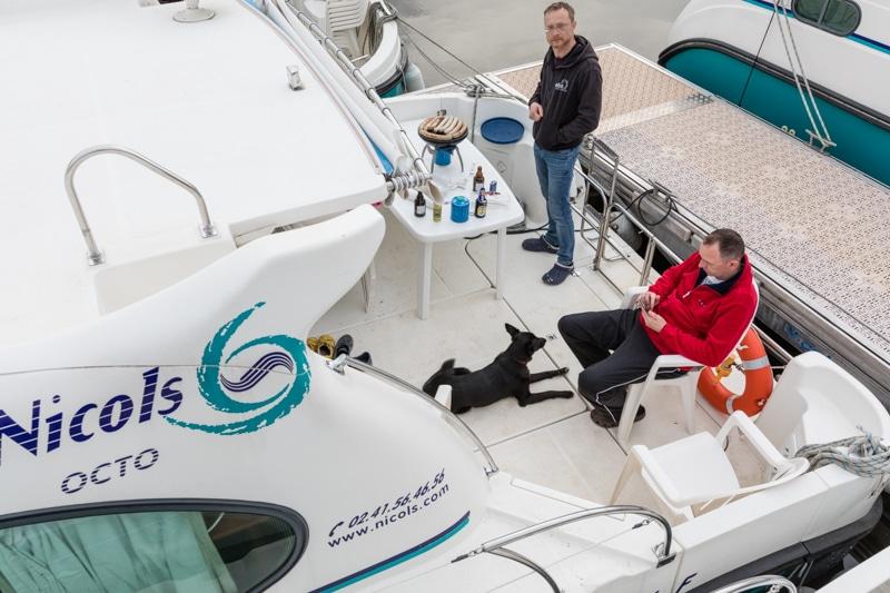 Hausbootferien in Frankreich - Familienurlaub auf dem Hausboot auf dem Rhein-Marne-Kanal in Elsass - MrsBerry Familien-Reiseblog: die ersten lauen Abende und es wird sofort gegrillt