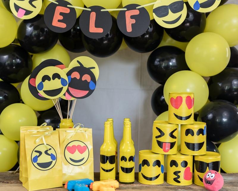 Emoji DIY Geburtstagsparty Deko Ideen zum selber machen