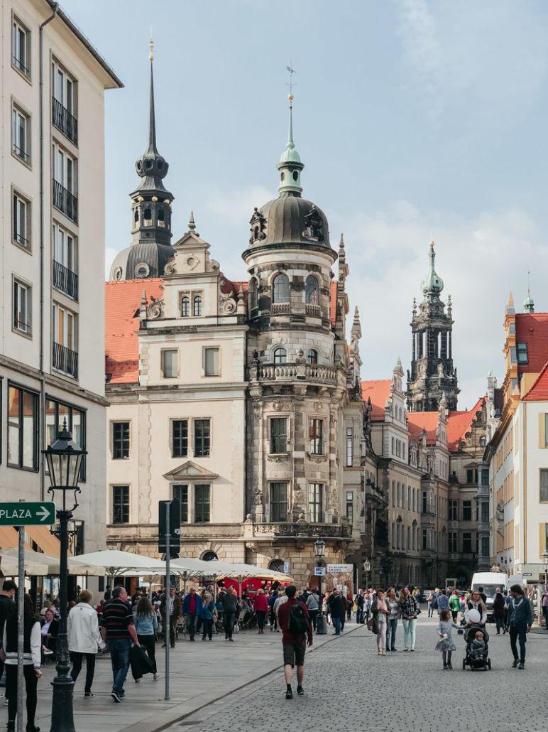 Städtereise Dresden Sehenswürdigkeiten - Das Dresdner Schloss war das Residenzschloss der sächsischen Kurfürsten und Könige.