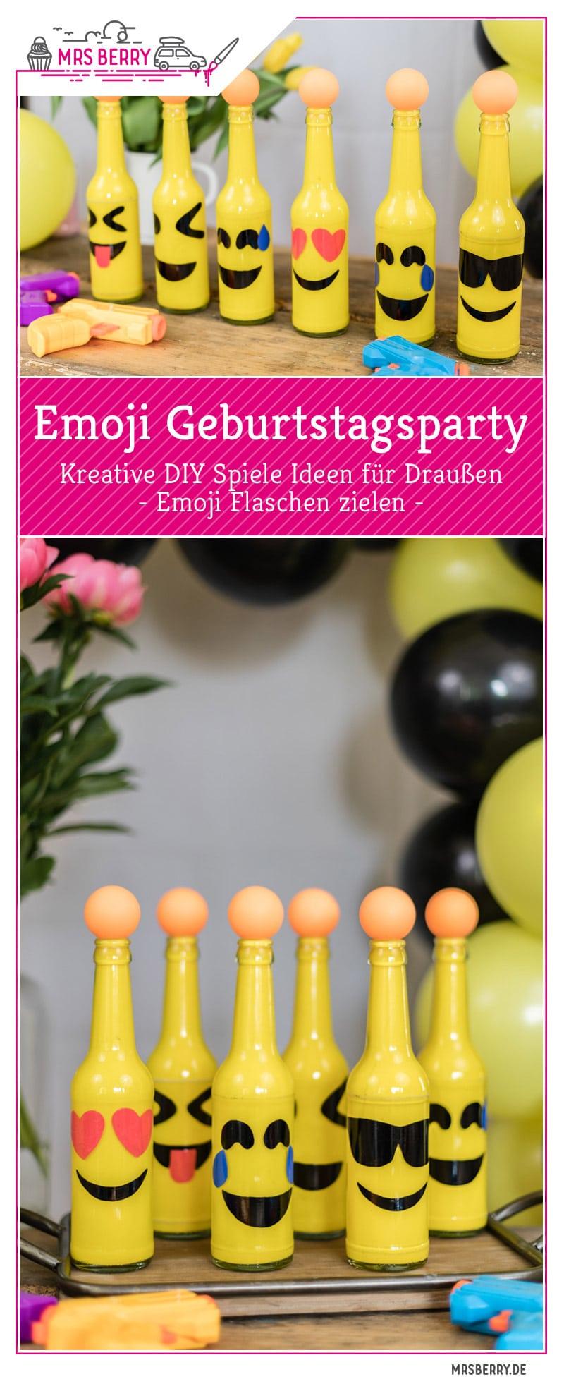 emoji diy geburtstagsparty spiele ideen f r drau en mrsberry. Black Bedroom Furniture Sets. Home Design Ideas