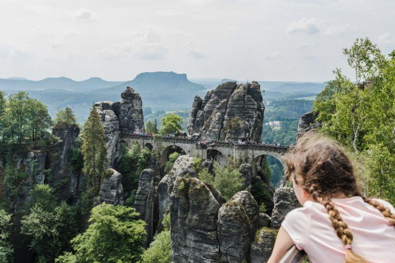 Sächsische Schweiz: Familienurlaub in Hinterhermsdorf - Nationalpark Wanderung Bastei mit Basteibrücke