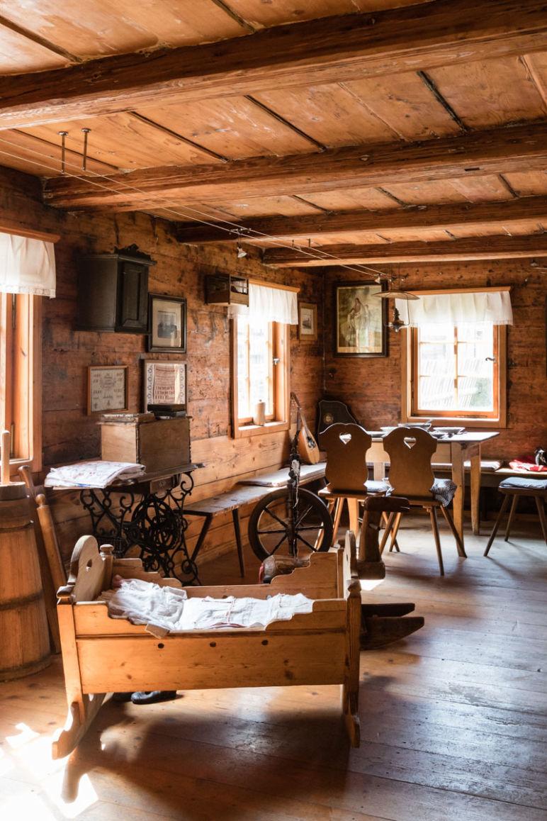 Sächsische Schweiz: Familienurlaub in Hinterhermsdorf - traditionelles Umgebindehaus von innen.