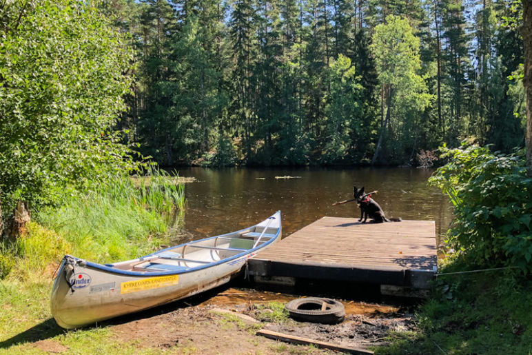 Skandinavien Roadtrip: 3 coole Familienspots in Smaland, Schweden - Ferienanlage Kyrkekvarn - Kanutour auf dem See Stråken