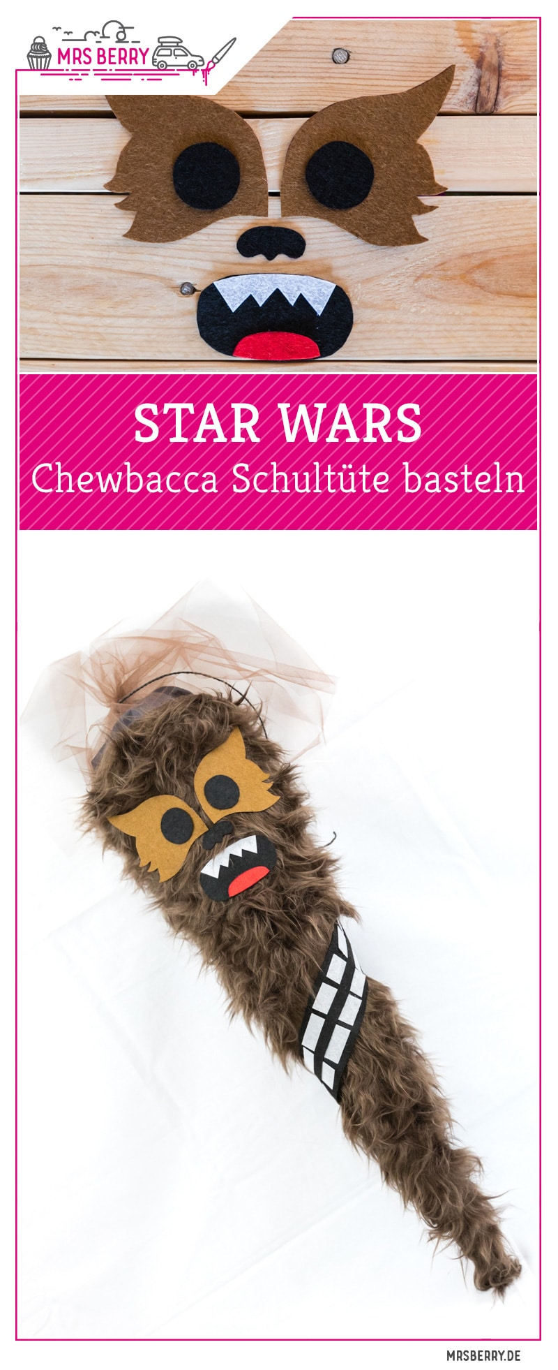 star wars schult te basteln chewbacca mrsberry familien. Black Bedroom Furniture Sets. Home Design Ideas