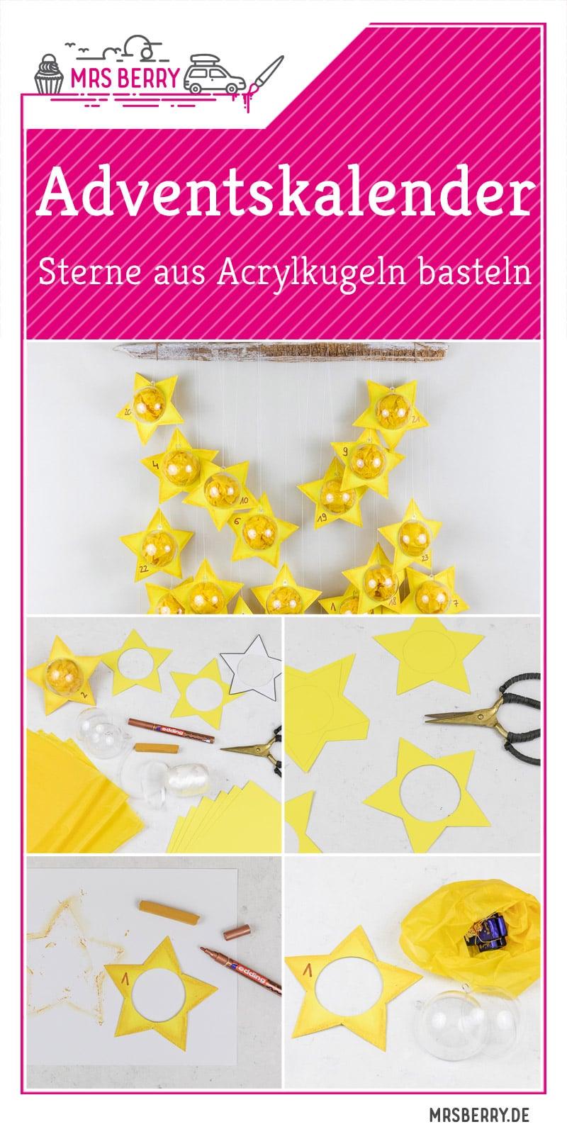 DIY Adventskalender Sterne aus Acrylkugeln basteln   MrsBerry.de