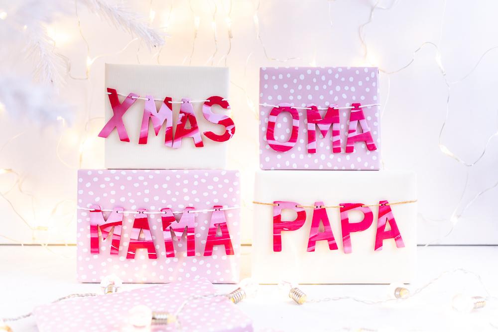 Weihnachtsgeschenke Keine Idee.Geschenke Verpacken Weihnachtsgeschenke Beschriften Mit Fimo