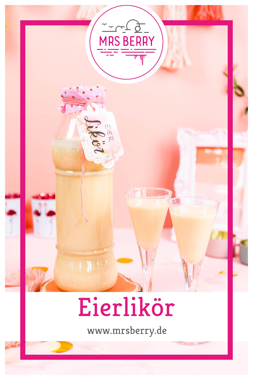 Eierlikör ist der Klassiker unter den cremigen Likören. Mit diesem Rezept kannst du frischen, sahnigen Eierlikör selber machen und das in nur 10 Minuten. Abgefüllt in eine hübsche Flasche ist selbstgemachter Eierlikör eine tolle Geschenkidee und das perfekte Mitbringsel zu einer Party.
