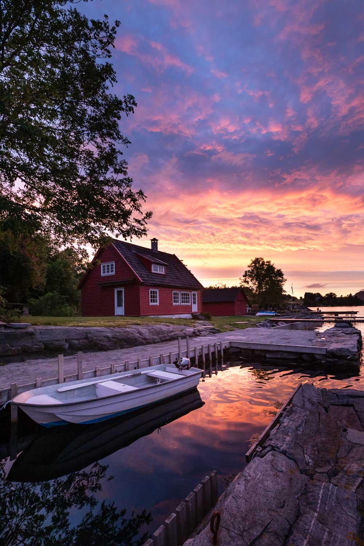 Norwegen, Bergen: idyllisches Ferienhaus am Sørfjord